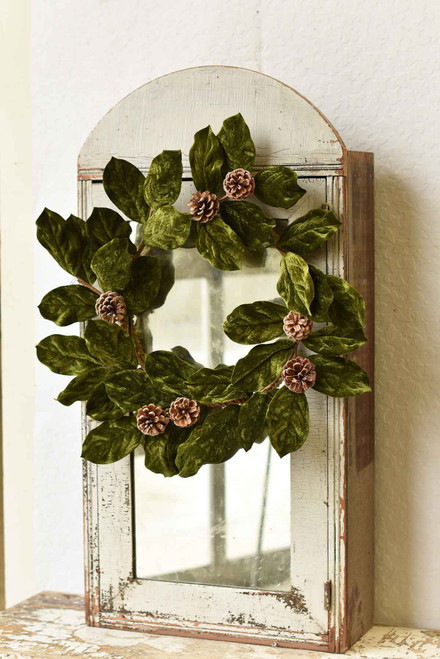 Magnolia Faux Wreath 22""