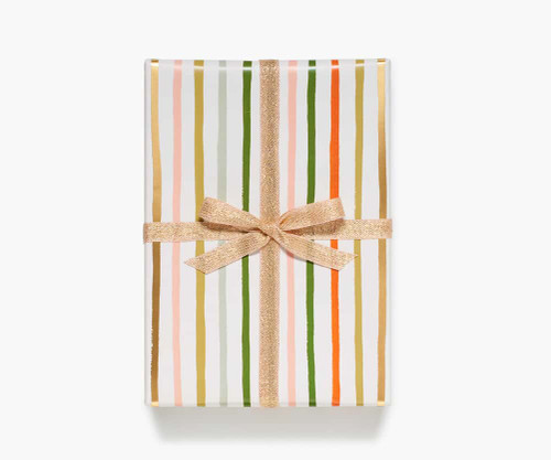 Festive Stripe Wrapping Paper Roll