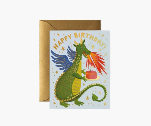 Happy Birthday Dragon Birthday Card
