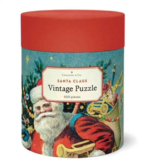 Santa Claus A Merry Christmas Vintage 500 Pieces Puzzle