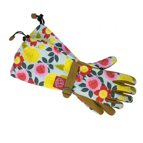 Heirloom Garden Floral Arm Saver Gloves in Large