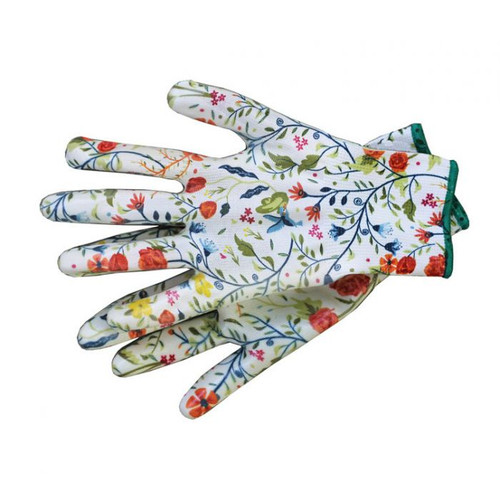 Garden of Paradise NITRILE Floral Gloves in Assorted Sizes (S/M/L)