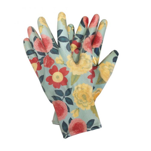 Heirloom Garden NITRILE Floral Gloves in Assorted Sizes (S/M/L)