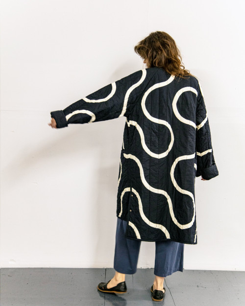 SNAKE PATH Quilt Coat in ONE SIZE - LONG by Haptic Lab