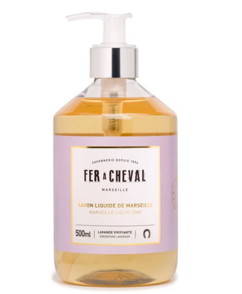 Fer À Cheval INVIGORATING LAVENDER Genuine Marseille Liquid Soap - 500ML or 33.8oz