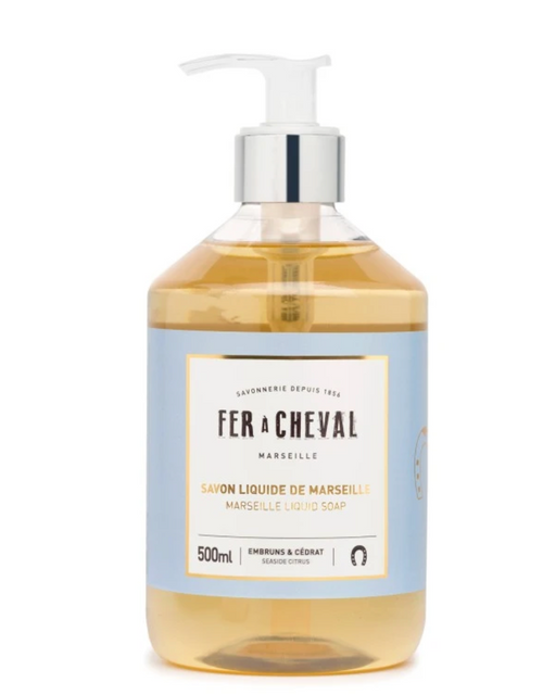 Fer À Cheval SEASIDE CITRUS Genuine Marseille Liquid Soap - 500ML or 33.8oz