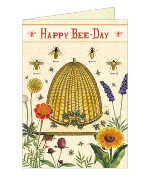 Happy Bee-Day Birthday Card (single)