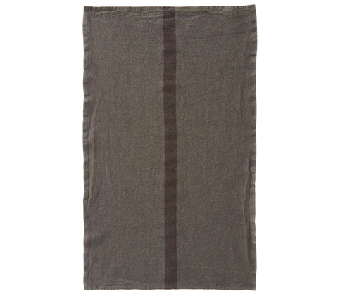 100% Linen Kitchen Tea Towel in Oxide