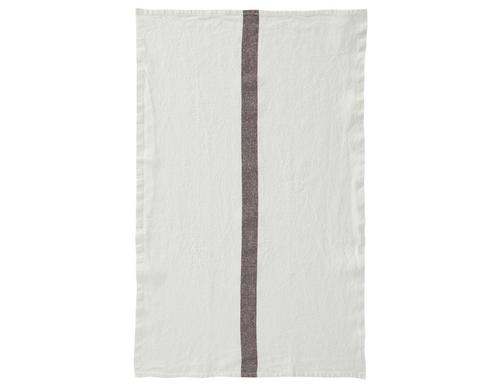 100% Linen Kitchen Tea Towel in White