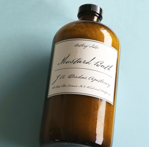 Apothecary Mustard Bath 32 oz (approx. 10 Bath)