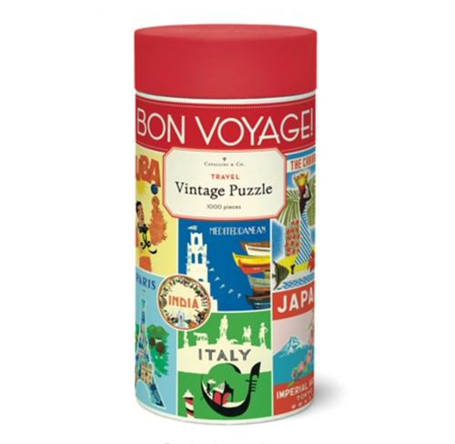 Vintage Puzzle Travel 1000 Pieces