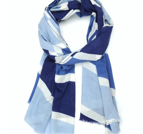 Moismont Dutch Blue STRIPE Cotton Scarf