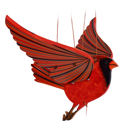 Cardinal Flying Bird Mobile