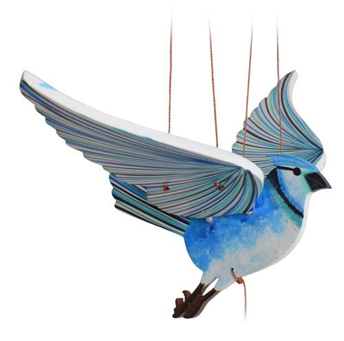 Blue Jay Flying Bird Mobile