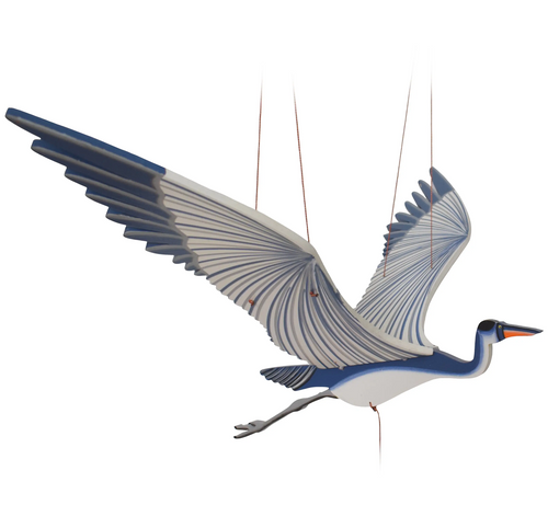 Blue Heron Flying Bird Mobile