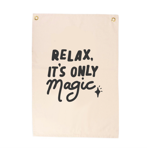 'Relax It's Only Magic' Wall Flag