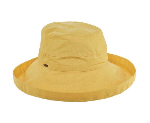 Gianna Cotton Hat (One Size Fits Most) in Banana Yellow