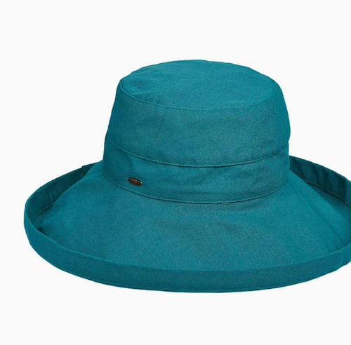 Gianna Cotton Hat (One Size Fits Most) in Teal