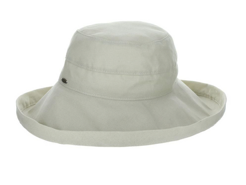 Gianna Cotton Hat (One Size Fits Most) in White