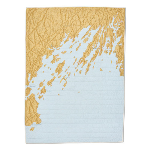 Casco Bay Quilt in Gold