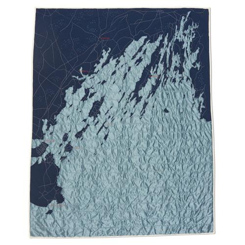 Casco Bay Maine Quilt in Navy