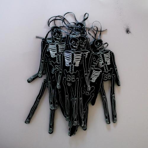 Lavender Filled Skelly Skeleton Ornament Token