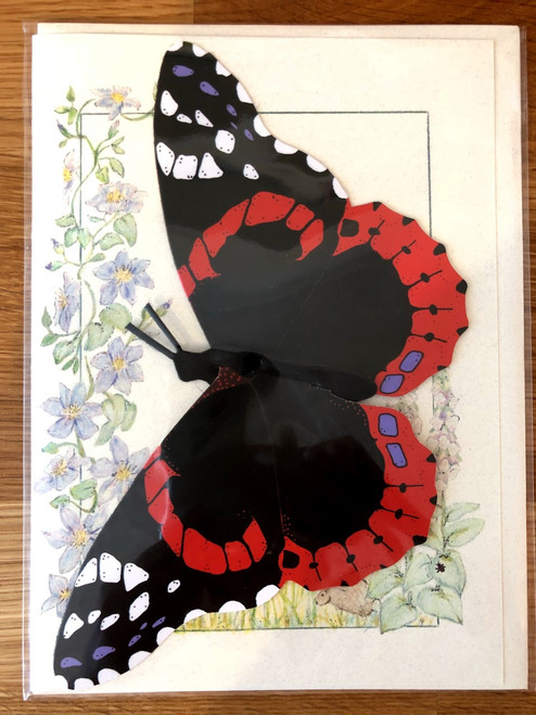 Red Admiral Butterfly Mobile Card
