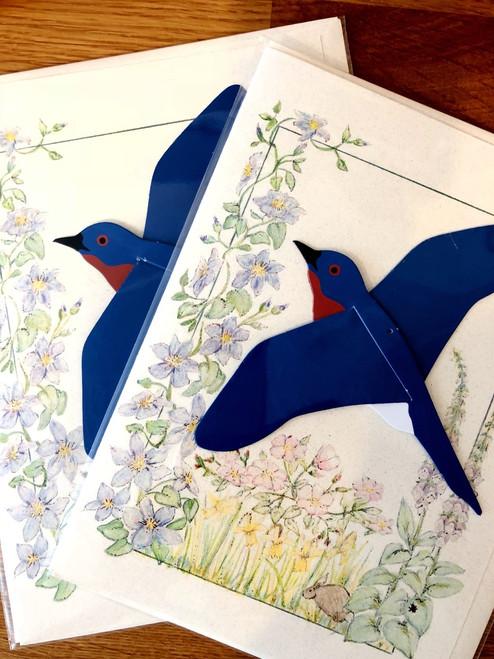 Eastern Bluebird Bird Mobile Card