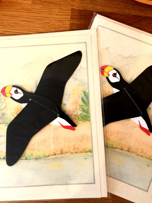 Horned Puffin Bird Mobile Card