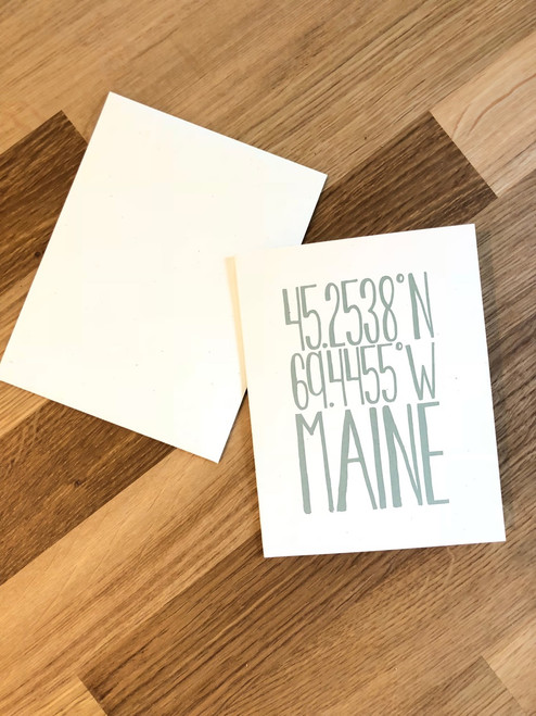 Greeting Card Maine
