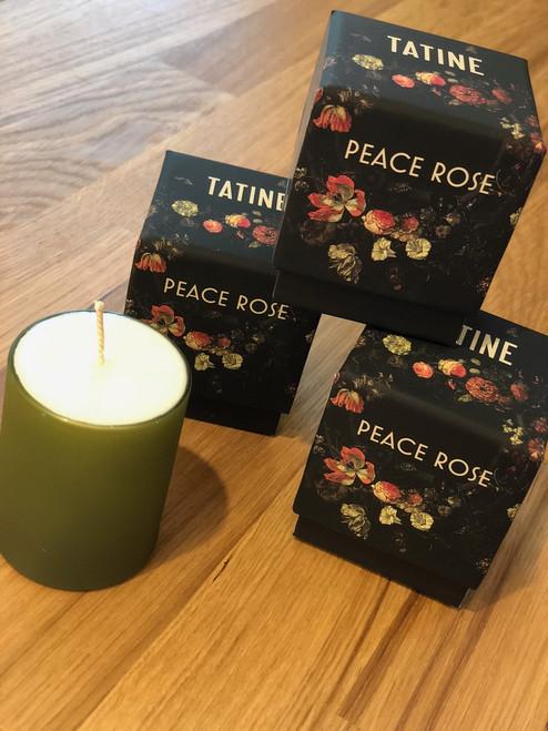 Peace Rose Candle by Tatine 3.5oz