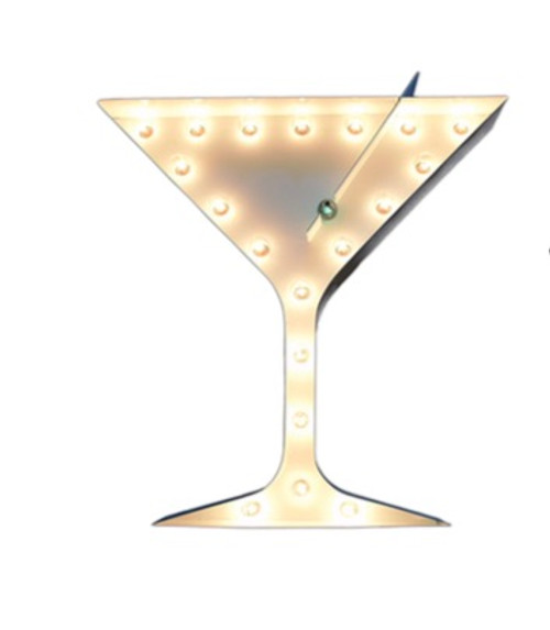 Martini Marquee Sign in White 2 Ft