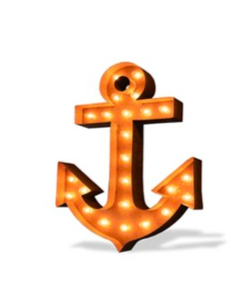 Anchor Marquee Sign in Rust