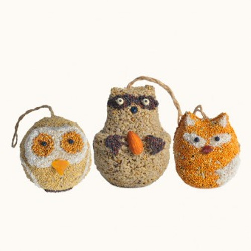 Bird Seed Woodland Friends (Assorted in Fox, Owls, Raccoon)