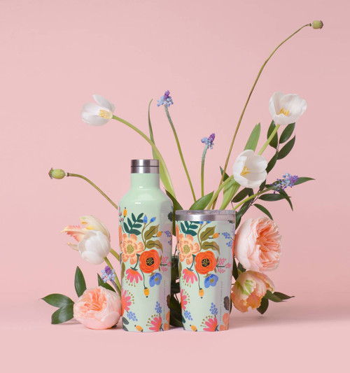 Corkcicle Rifle Paper Hot Cold Tumbler in Lively Floral