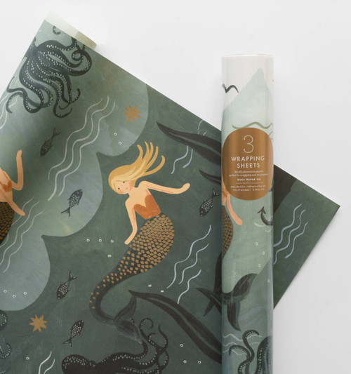 Mermaid Wrapping Paper 3 Sheets