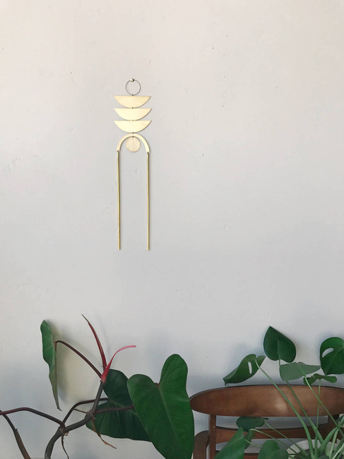 The Sun It Rose Brass Wall Hanging