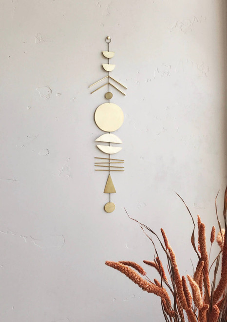 Arine Wall Hanging in Brass