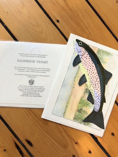 Rainbow Trout Card Mobile