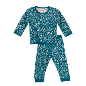 Merino/Organic Cotton Pyjamas - Lake Wilderness