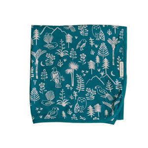 Merino/Organic Cotton Swaddle/Blanket - Lake Wilderness