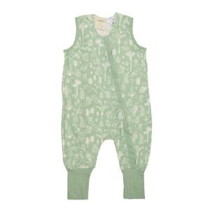 3-Seasons Merino/Organic Cotton Sleeping Suit - Print - Moss Wilderness