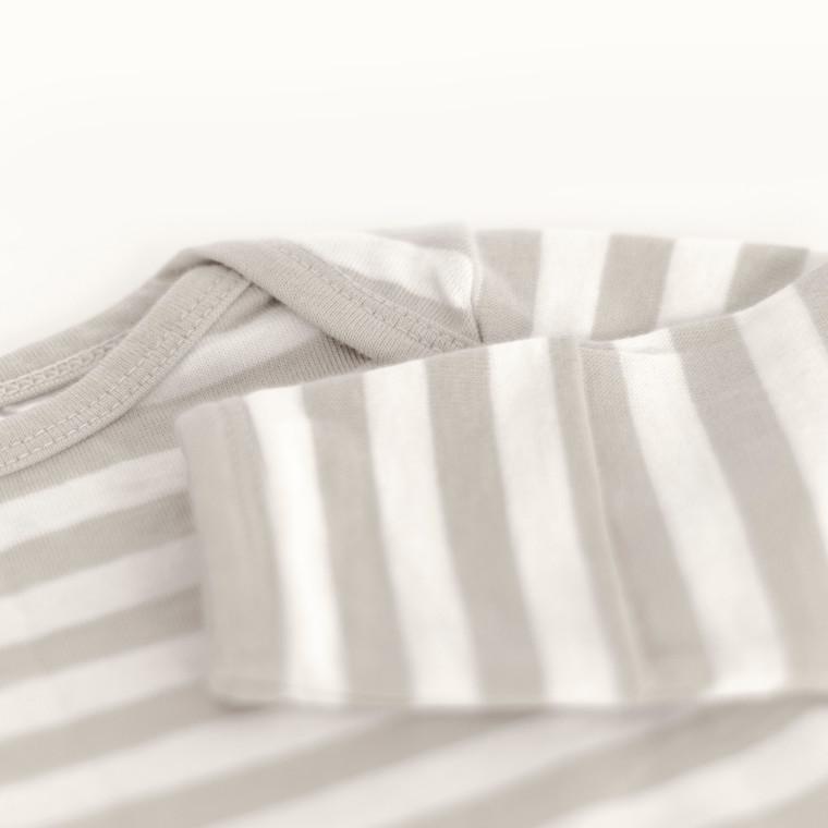 Merino/Organic Cotton Gown - Pebble