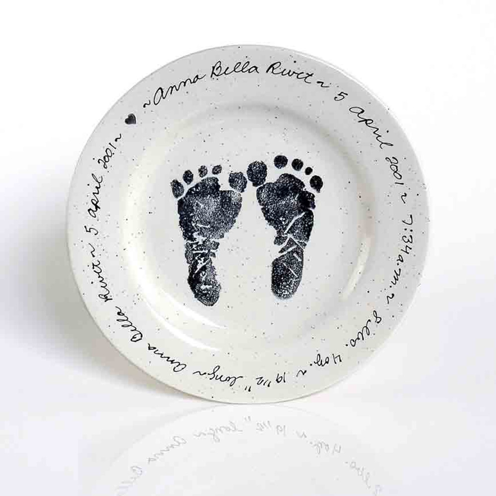Personalized baby birth stats plate