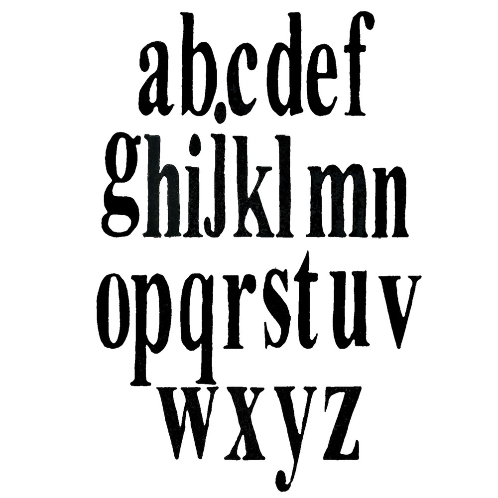 Times New Roman font - lower case only