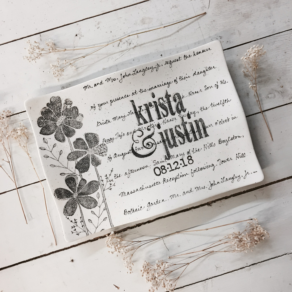 Personalized Wedding Invitations.Flower Wedding Invitation Flare