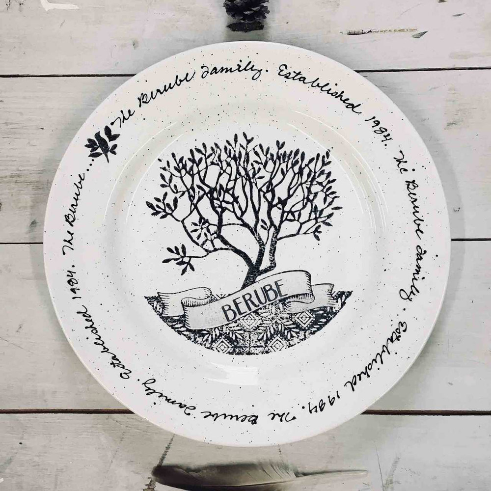 Family Tree Plate