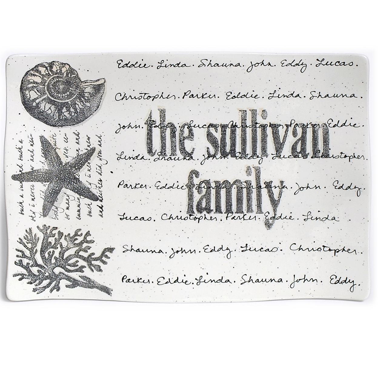Family Beach Gifts Personalized Family Gift Platter