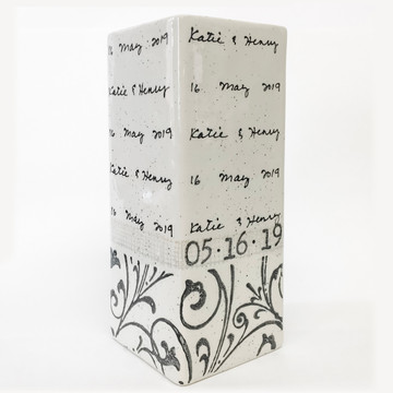Vine Cursive Wedding Vase