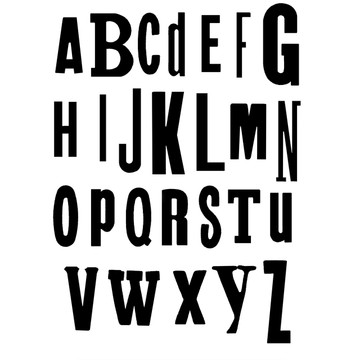 Ransom font - playful and funky